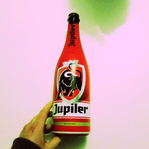 jupiler red bottle