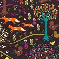 Norwegian Wood Too – Foxtrot fabric by Michael Miller.