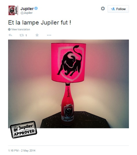 Jupiler approved lamp